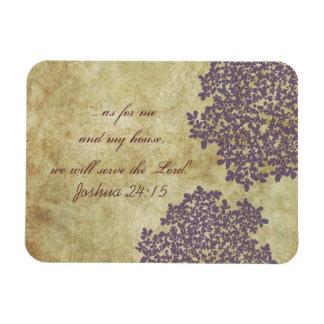 紫色の花のヴィンテージ マグネット