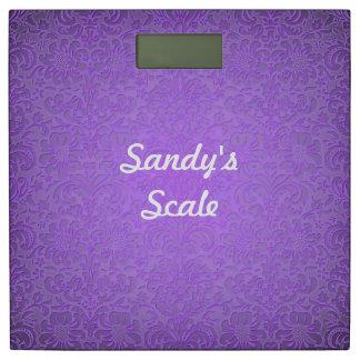 紫色の花の体重計 体重計