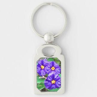 紫色の花の写真 キーホルダー