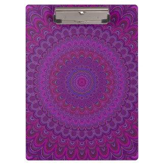紫色の花の曼荼羅 クリップボード