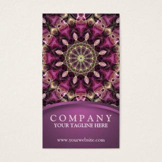 紫色の花の曼荼羅 名刺