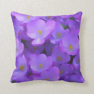 紫色の花の枕 クッション