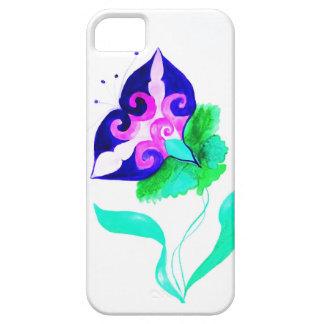 紫色の花の箱 iPhone SE/5/5s ケース