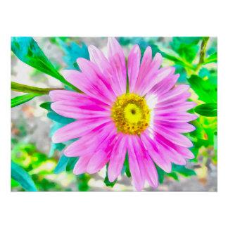 紫色の花の絵画 ポスター