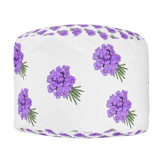 紫色の花の花束 プーフ