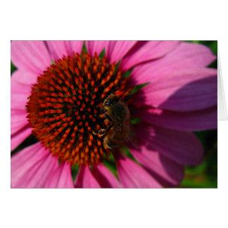 紫色の花の蜂 ノートカード