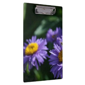 紫色の花の蝶 クリップボード