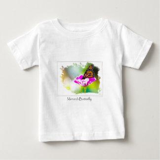 紫色の花の(昆虫)オオカバマダラ、モナーク ベビーTシャツ