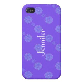 紫色の花のiphoneの箱 iPhone 4 ケース