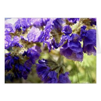 紫色の花のNotecard ノートカード
