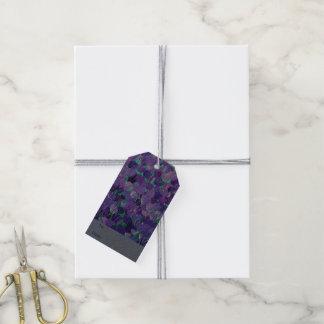 紫色の花びら ギフトタグ