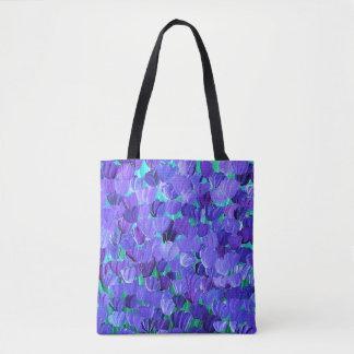 紫色の花びら トートバッグ
