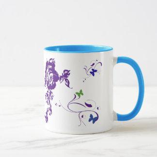 紫色の花びら マグカップ