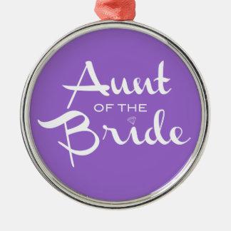 紫色の花嫁の白の叔母さん メタルオーナメント