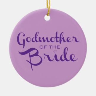 紫色の花嫁の紫色の教母 セラミックオーナメント