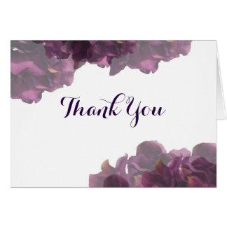 紫色の花柄はノート感謝していしています ノートカード