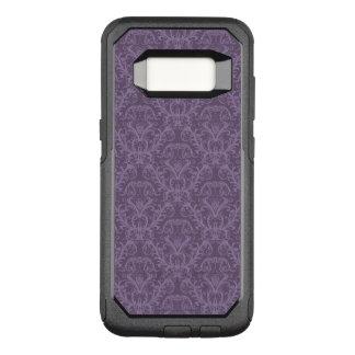 紫色の花模様の壁紙2 オッターボックスコミューターSamsung GALAXY S8 ケース
