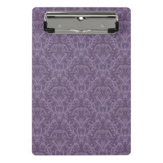 紫色の花模様の壁紙2 ミニクリップボード