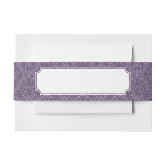 紫色の花模様の壁紙2 招待状ベリーバンド