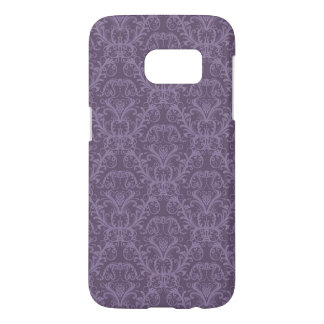 紫色の花模様の壁紙2 SAMSUNG GALAXY S7 ケース