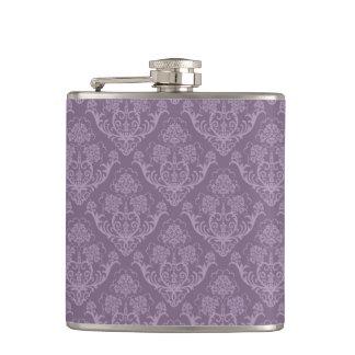 紫色の花模様の壁紙 フラスク