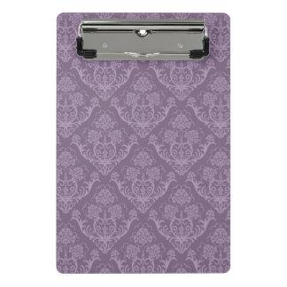紫色の花模様の壁紙 ミニクリップボード