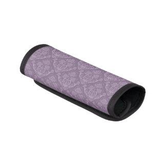 紫色の花模様の壁紙 ラゲッジ ハンドルラップ