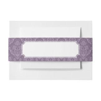紫色の花模様の壁紙 招待状ベリーバンド