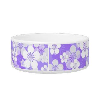紫色の花模様媒体のペットボウル ボウル