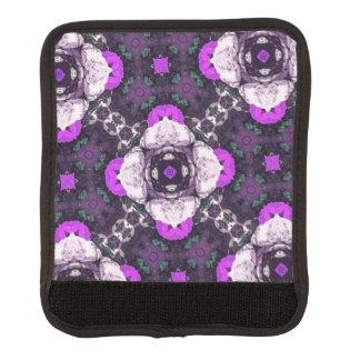紫色の花模様 ラゲッジ ハンドルラップ