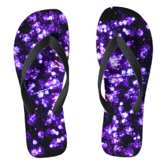 紫色の花火の破烈 ビーチサンダル