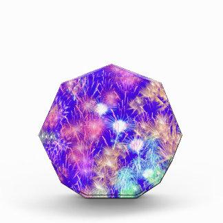 紫色の花火 表彰盾