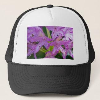 紫色の花 キャップ