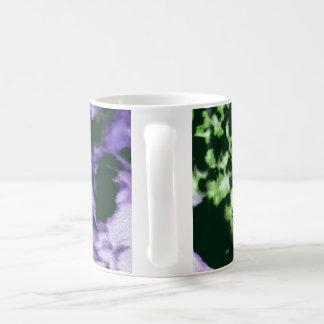 紫色の花 コーヒーマグカップ