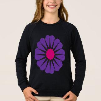 紫色の花 スウェットシャツ