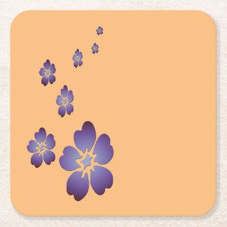 紫色の花 スクエアペーパーコースター