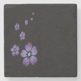 紫色の花 ストーンコースター