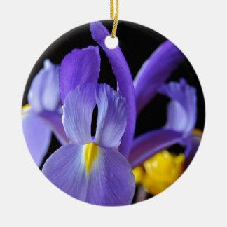 紫色の花 セラミックオーナメント