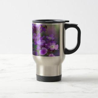 紫色の花 トラベルマグ