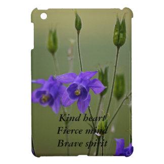 紫色の花….ハート、心、精神 iPad MINIケース