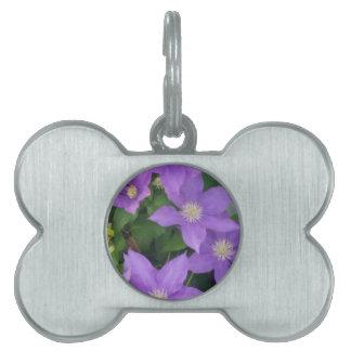 紫色の花 ペットネームタグ