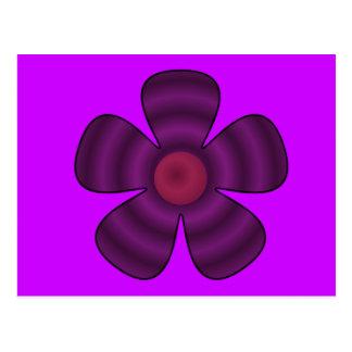 紫色の花 ポストカード