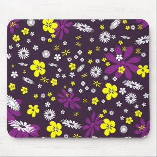 紫色の花 マウスパッド