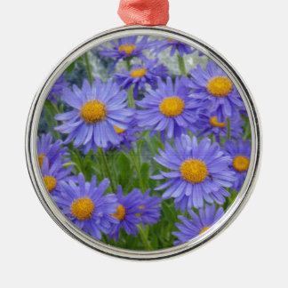 紫色の花 メタルオーナメント