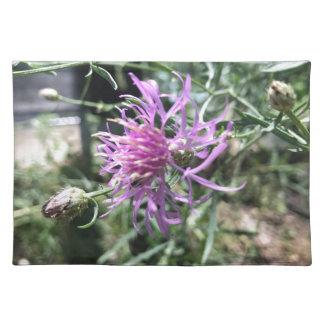 紫色の花 ランチョンマット