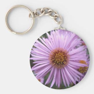 紫色の花Keychain キーホルダー
