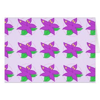 紫色の花Notecard カード