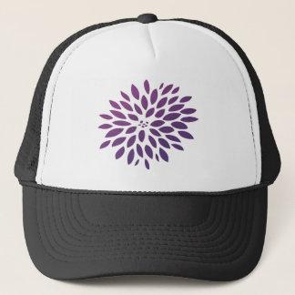 紫色の菊 キャップ