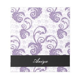 紫色の華麗さ ノートパッド