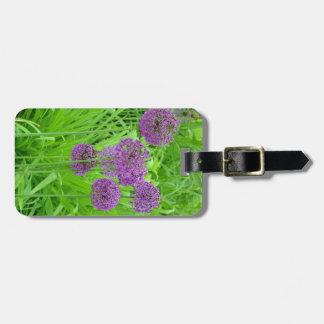 紫色の葱類の花園 ラゲッジタグ